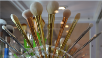 new golden synthetic hair mermaid makeup brush set china suppliers
