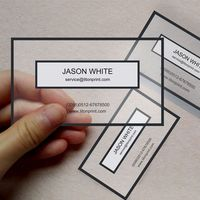 High quality China custom pvc business card plastic name card printing