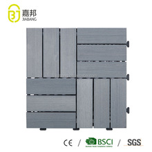 30X30cm outdoor deck interlocking removable PVC plastic slat floor tile looks like wood in grey color for garden