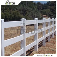 High Quality Made in China Fentech High Strength Cheap 3 Rail Fencing for Sheep