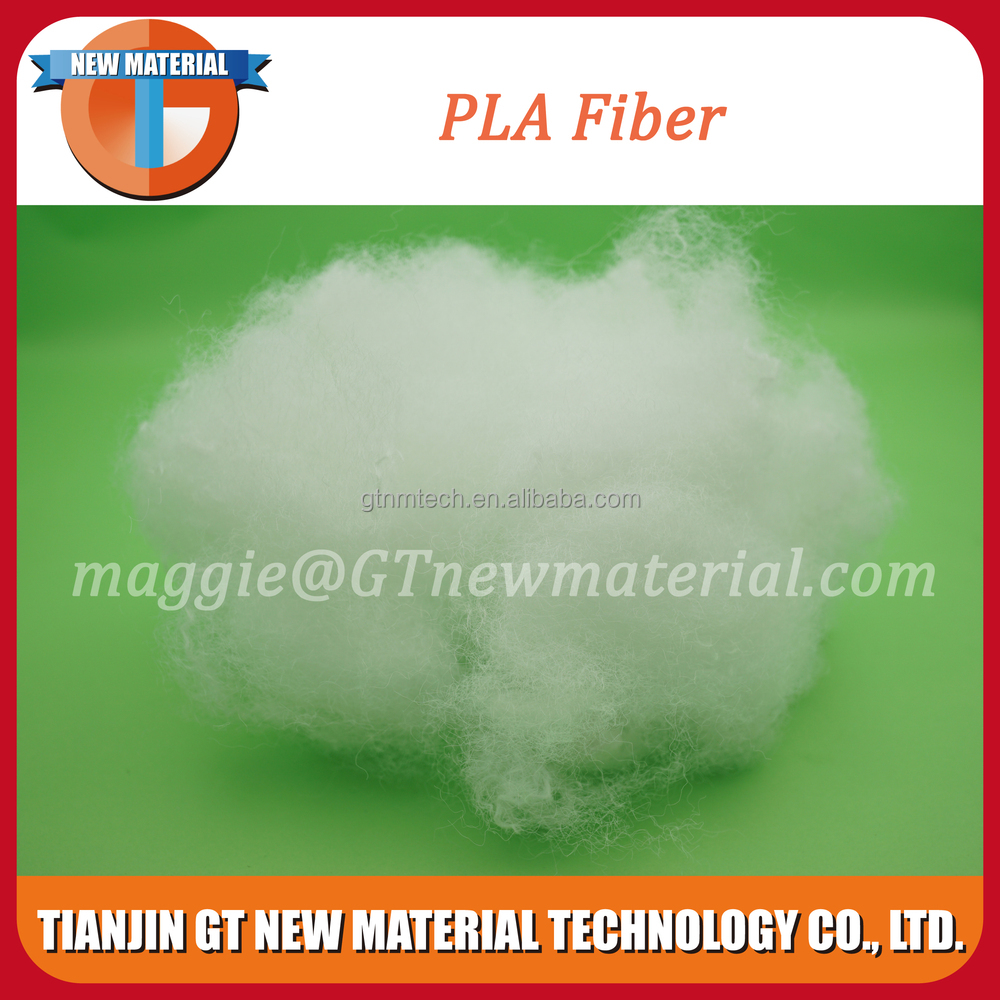 siliconized pla fiber, white color pla fiber for filling materials