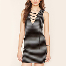 ladies clothes supplier women fitted jersey cotton spandex dress striped jersey mini dress