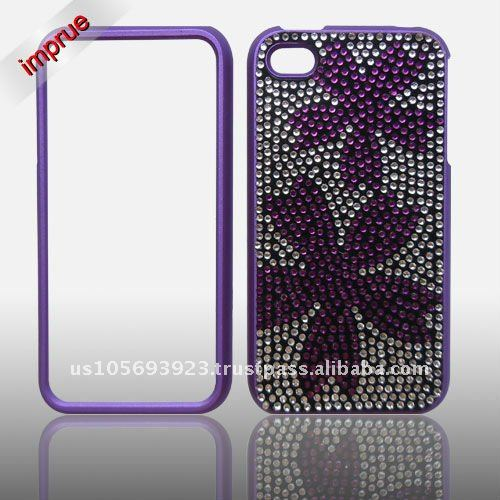 for Apple Iphone 4 / 4S brand new Crystal Bling Snap on Faceplate mobile phone Case
