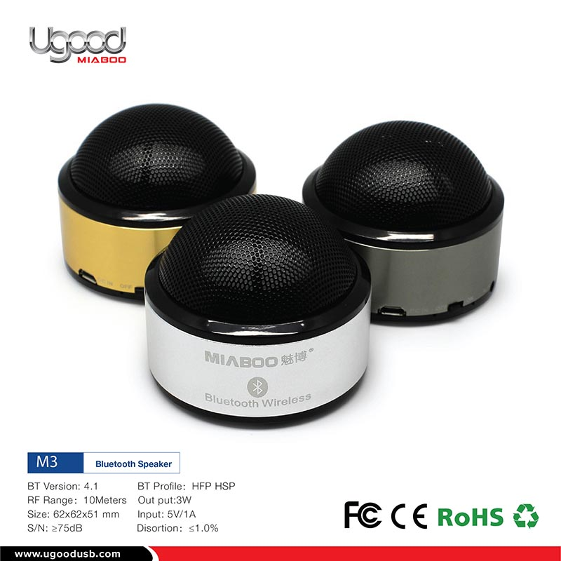 BSCI Factory Speaker Bluetooth With BQB, Free Sample Mobile Holder Bluetooth Speaker With Suction Cup