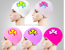 Silicone Solid rubber Swim Cap for summer swimming