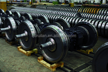 Railway wheel and axle railway wheelset