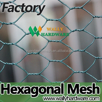 low price black white green tenax plastic vinyle pvc coated farming hexagonal chicken wire mesh net poultry mesh netting