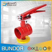 PN16 dn100 safety fire protection grooved butterfly valve