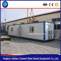 Modern prefabricated container house with steel bunk structure capsule bed