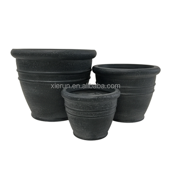 Stackable Retro Style Spiral Grain Round Unique Planters