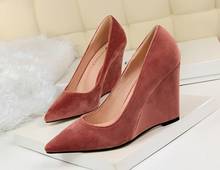 Korean style high heels ladies new model wedge shoes ladies