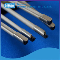 Single flute Gun drill with Estech tungsten carbide tip brazed/ gun drill with coolant ducts/drill bit