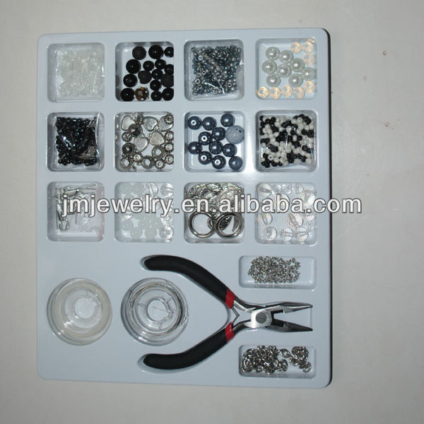 High quality plastic pearl beads crystal beads,stainless steel jewelry accessories,diy jewelry making kit for adults