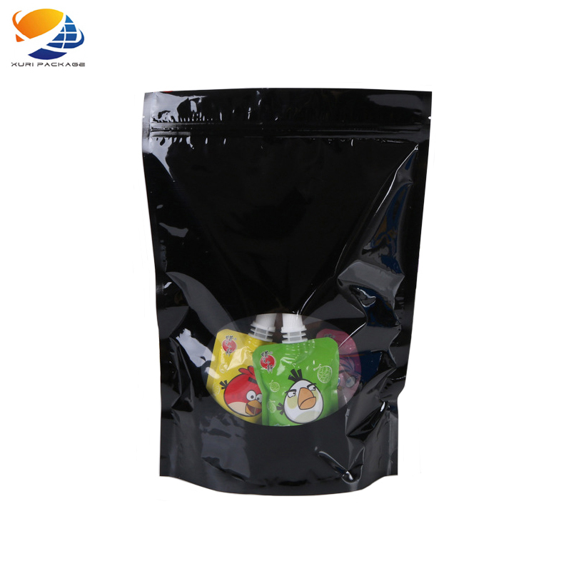 China supplier customized composite material stand up drink packing plastic pouch Stand up bottle pouch shaped bag china product