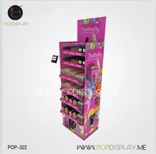 Popular Store Retail New Design Carton Paper Showroom Cardboard Merchandiser Custom Shop 4 Tier Cosmetic Floor Display Stand