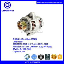 hot discount auto alternator,Lester:13557 ,OEM:101211-5540,101211-5010 , 80A/12V
