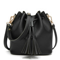 Fashion PU Leather Bucket Bag Women Shoulder Bag Body Cross Bag for Ladies