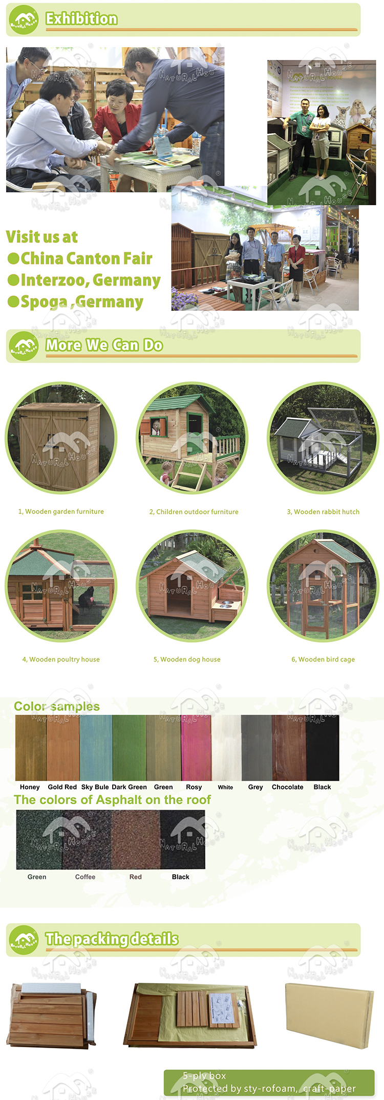 Item no.DH-3 Outdoor Wooden Dog House