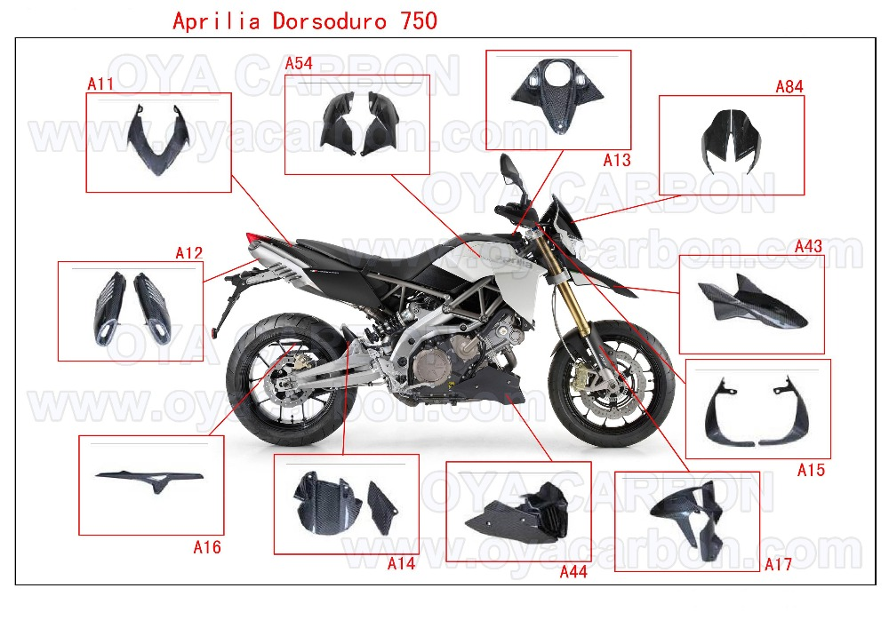 Carbon Fiber motorcycle parts for Aprilia Dorsoduro SMV 750 08-09