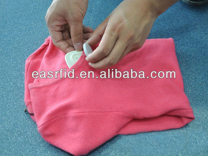 RFID system RFID UHF PIN with EAS security anti-theft tag for Clothing store