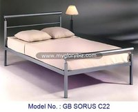 Modern Furniture Bed Made By Round And Square Metal Tube For Home Bedroom