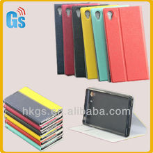 Unique Desigh Soft TPU Leather Flip Case For Sony Xperia Z1 i1 L39h