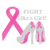Fight like a Girl Ribbon Breast Cancer Awareness high heel Rhinestone Transfer