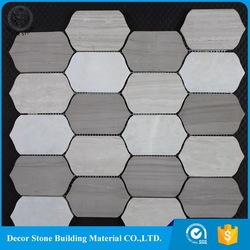 chinese wood vein grey tumbled marble pebble tile with A Discount