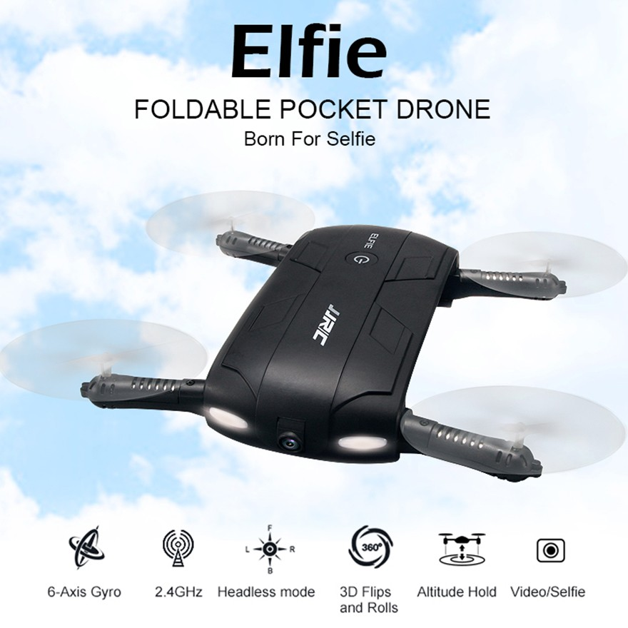 JJRC H37 Elfie RC Selfie Drone With 720P Camera Air Selfie Drone Pocket Quadcopter Helicopter mini drone 2MP camera