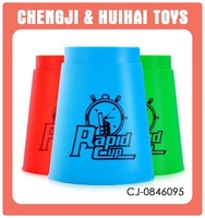 Interesting plastic baby toy make speed sport stacking cups