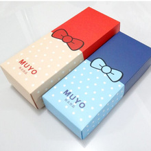 custom printed cute paper gift boxes for scarves socks underwear clothing