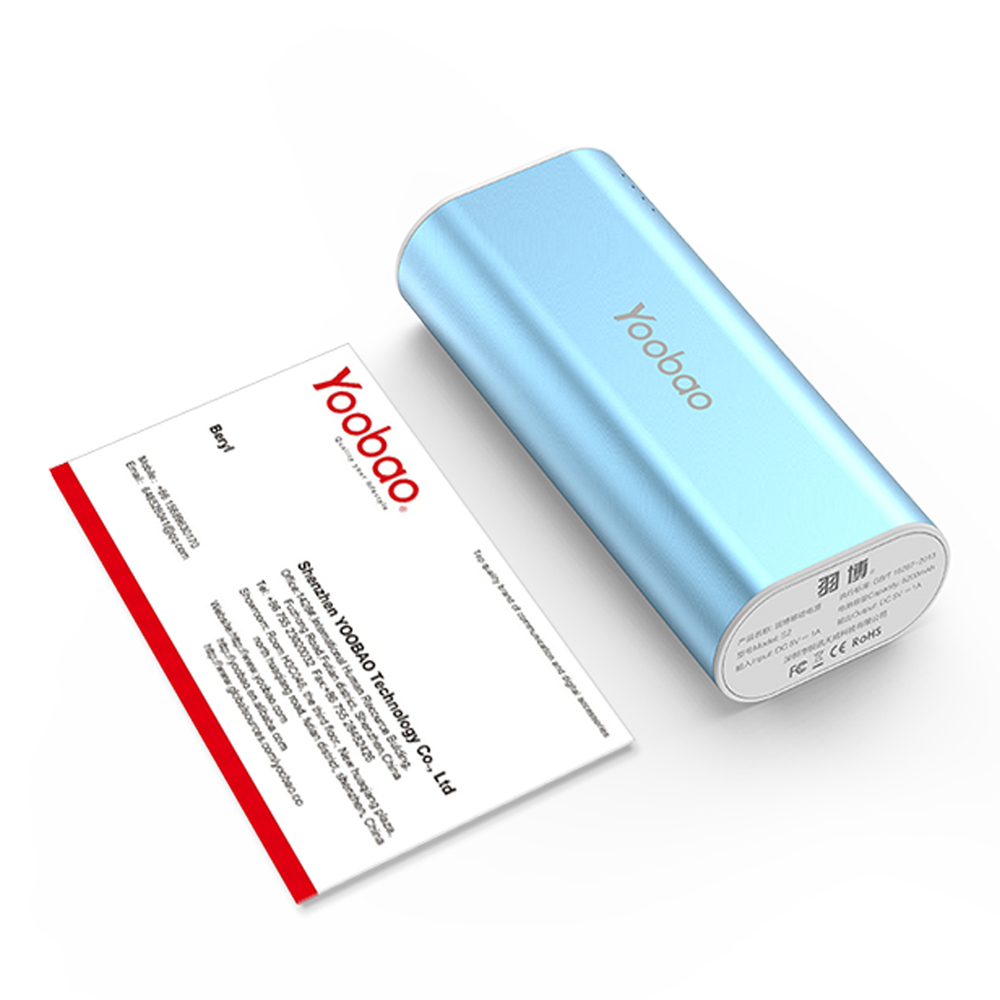 YOOBAO Mobile Power Bank 5200mAh S2 Bluetooth Power Bank