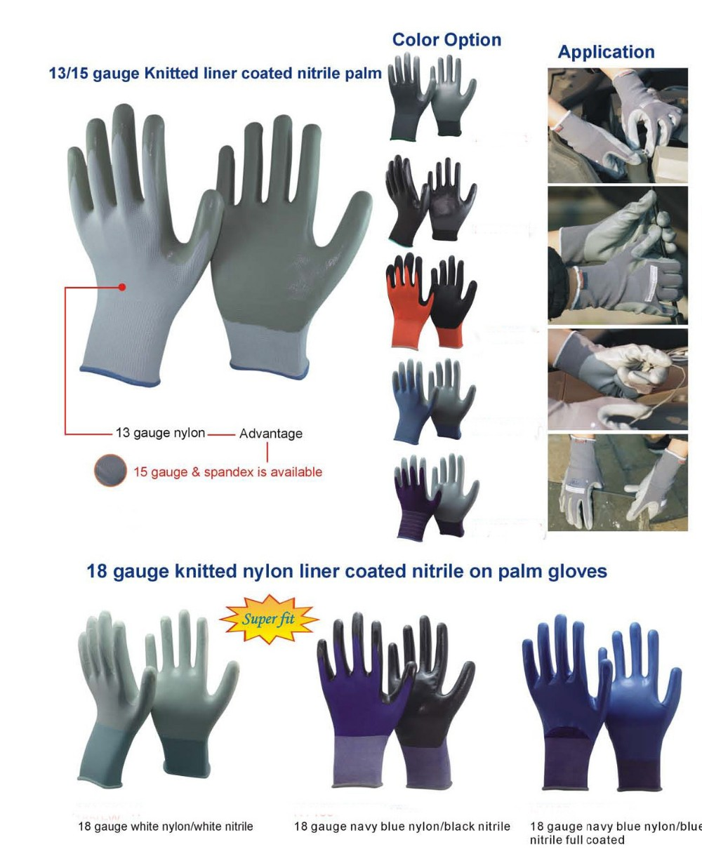 Brand MHR hot sale nitrle gloves labour glove nitrile safety gloves