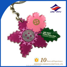 Custom Keychain Flower and Leaf Shape Make Anime Acrylic Keychain
