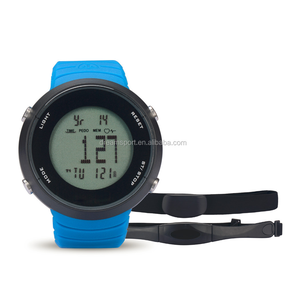 5.3k Frequency soft chest belt heart rate watch with step