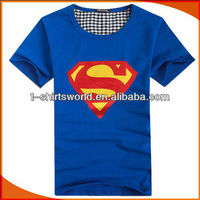 2014 New Fashion Men's SuperMan Printing t-shirt For Promotion Full-Size