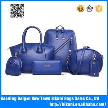 China wholesale 5 pcs in composite bags high quality bags pu lady handbags fashion bags set
