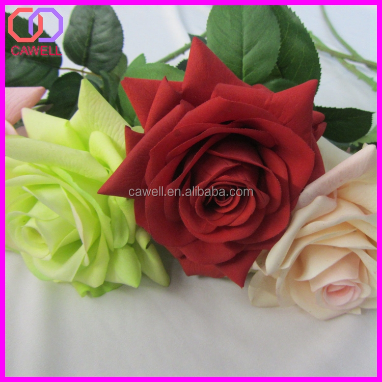 Factory direct natural touch long single stem multi for Natural multi colored roses