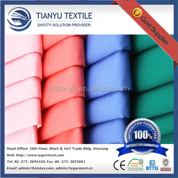 Solid Dyed Downproof Polyester Cotton Poplin Fabric 45*45 133*100 for Down Coat Shirts