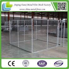 chain link fence dog kennels with frame top for America market