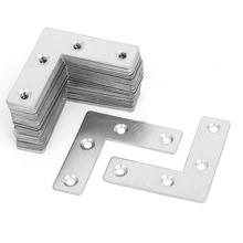 Metal L Shaped Flat Fixing Mending Repair Plates Brackets