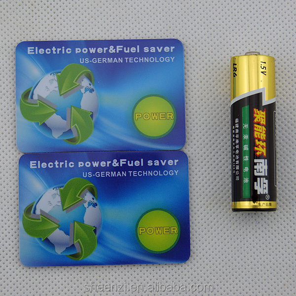 Nano Ion Saving Card with 7000-7500 ions Electric power and Fuel Saving card