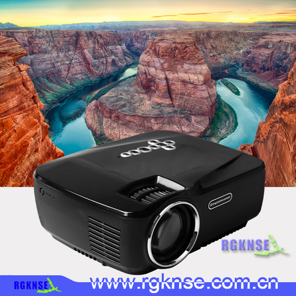HD GP70UP mini led projector Bluetooth WIFI Android4.4 8G+1G Wireless led Projector 1200 lumens