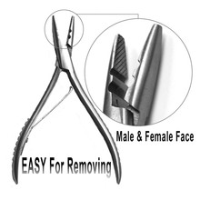 Stainless Steel Extension Pliers Silivery White Pliers Keratin Loop Hair Extensions Tools