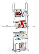 Free Standing Wire 4 tier Literature / magazines Display Rack (DS-A-0107)