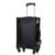 Black trolley vintage luggage with 4 spinner wheels