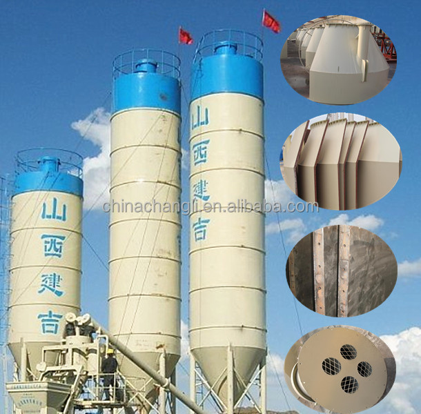 100T cement silo tank concrete batching plant with cement storage silo