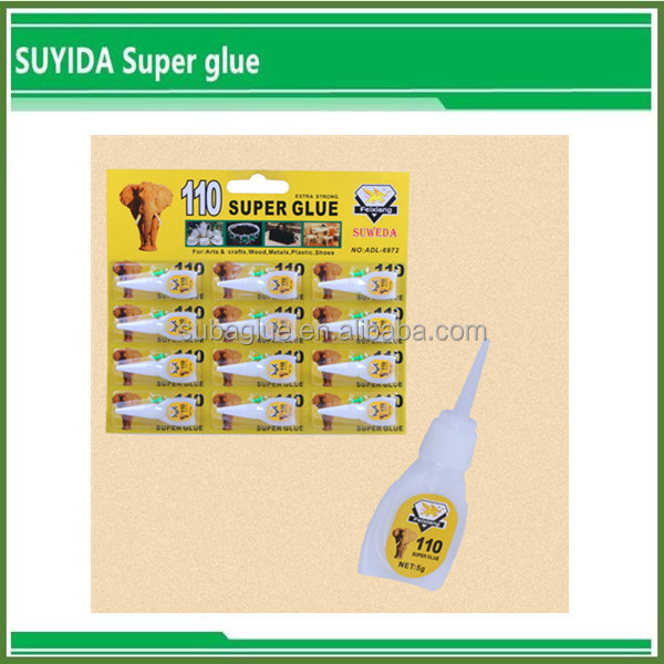 Suyida bulk cyanoacrylate rubber to steel adhesive glue