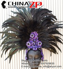 CHINAZP Wholesale Black Rooster Tail Feather for Showgirl Costumes and Headdresses