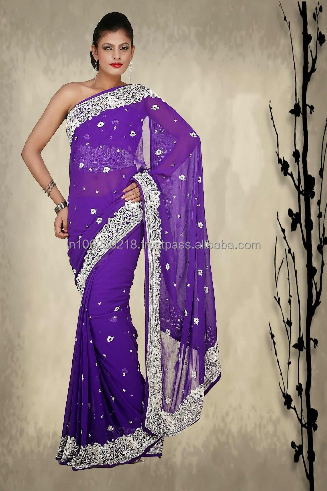 Bollywood full net purple saree blouse design / Indian whole sale